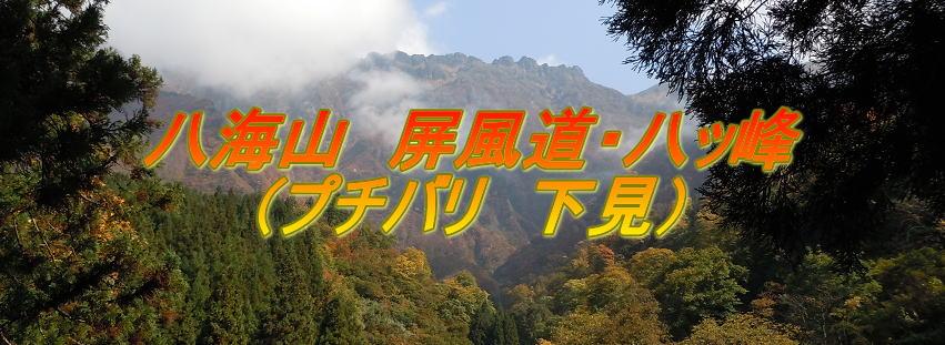 八海山 屏風道・八ッ峰 (プチバリ 下見)
